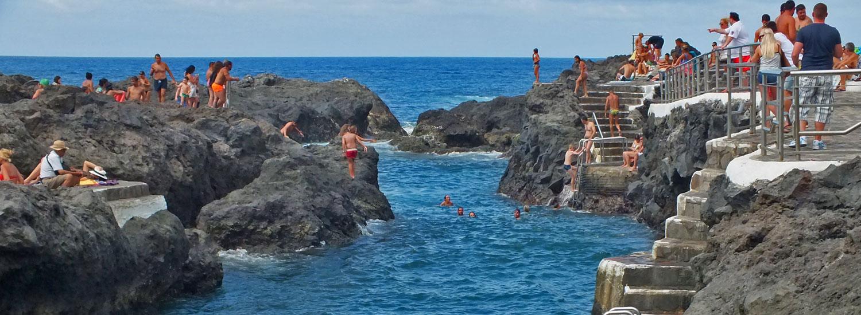 Meeresschwimmb der piscinas naturales de calet n for Piscinas naturales de garachico